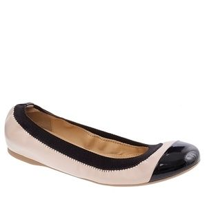 J.Crew Mila Cap Toe Leather Ballet Flats